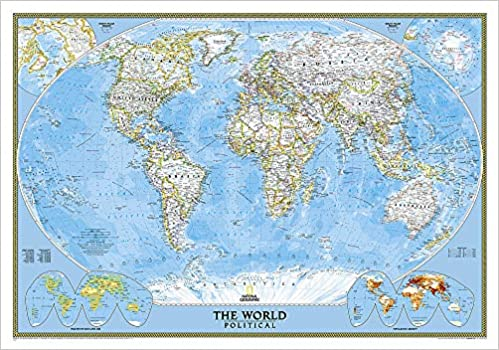 Cartina Mondo National Geographic.Amazon It World Classic Wall Maps World National Geographic Maps Libri In Altre Lingue