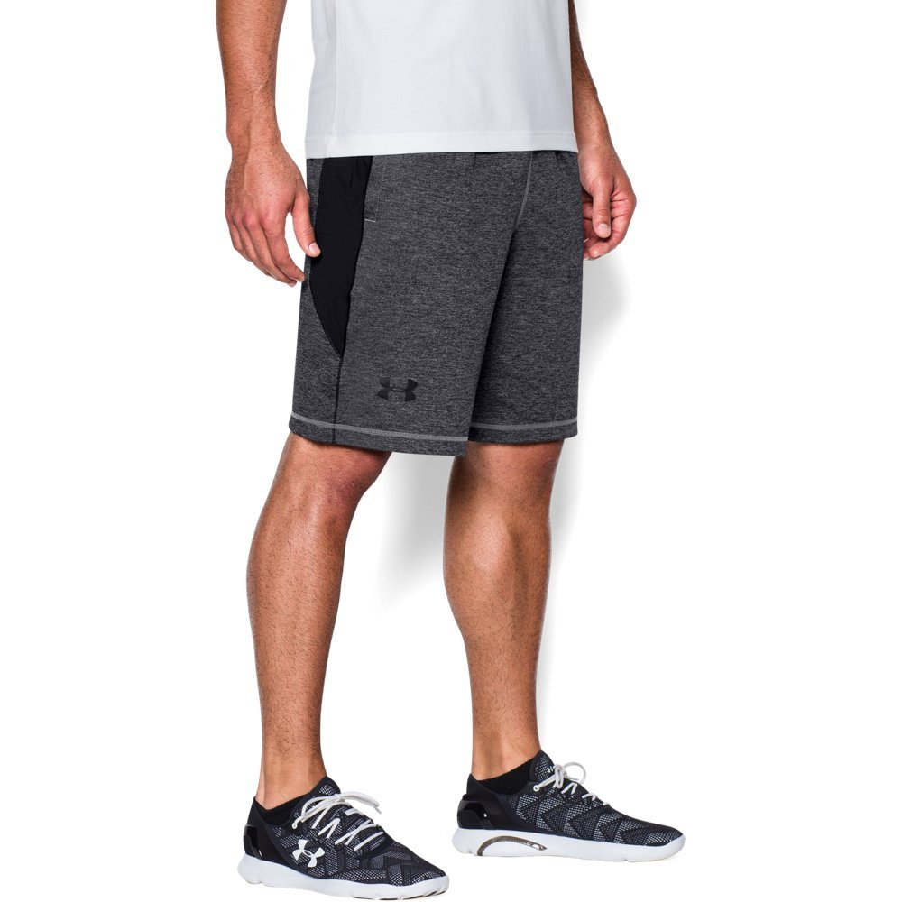 Under Armour Men's Raid Printed 10'' Shorts, Steel (039)/Black, 3X-Large by Under Armour