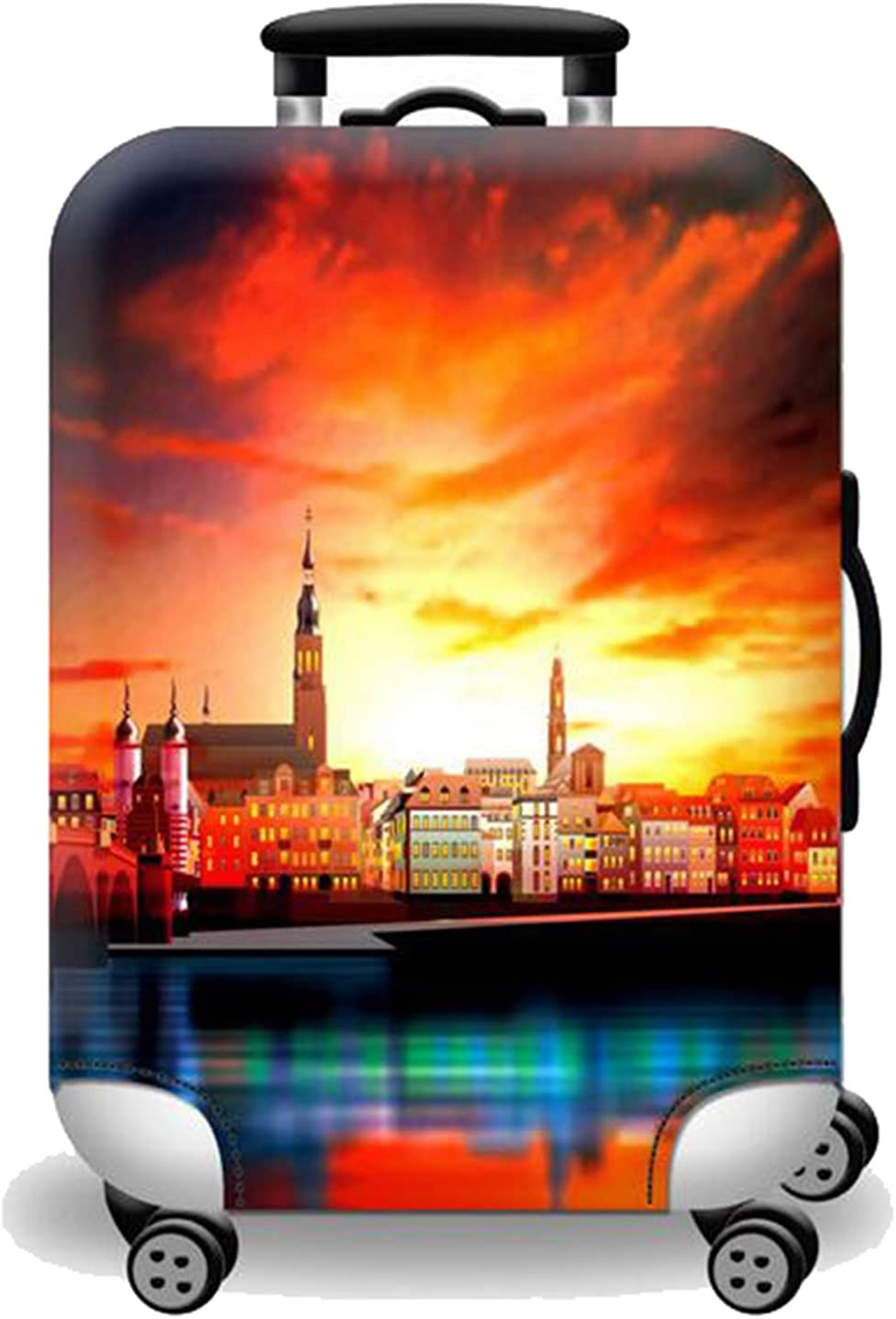 Joyloading Cartoon The World Trip Picture Travel Luggage Cover Fits 27-30 Inch Luggage Protector