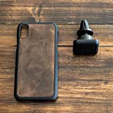 Leatherback iPhone Case with Magnetic Car Mount/Holder - iPhone 6 / 6S / 7/8 / 6 Plus / 6S Plus / 7 Plus / 8 Plus/X