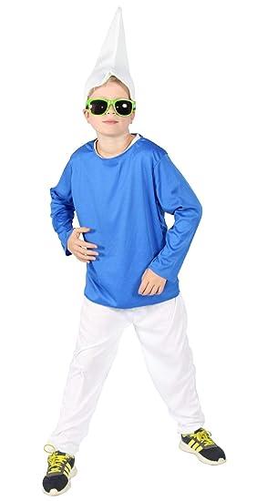 Foxxeo Blaues Zwerg Kostum Fur Kinde Zu Fasching Und Karneval Jungen