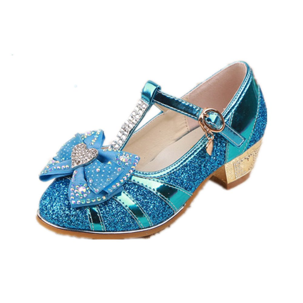 FUN.S Little Girls Pretty Party Dress Pumps Toddler Girl Heels Shoes Pump Sandals Open Toe Sandals