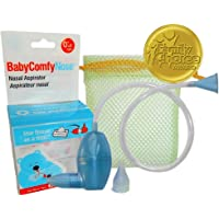 BabyComfy Nasal Aspirator -- The Snotsucker -- Hygienically & Safely Removes Baby's Nasal Mucus – Blue
