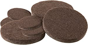 SoftTouch 4218695N Self-Stick Furniture Round Felt Pads, Assorted, Brown