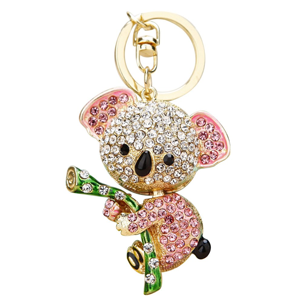 Sukisuki Koala Rhinestone Keyring Keychain Purse Bag Pendant Gift for Friends