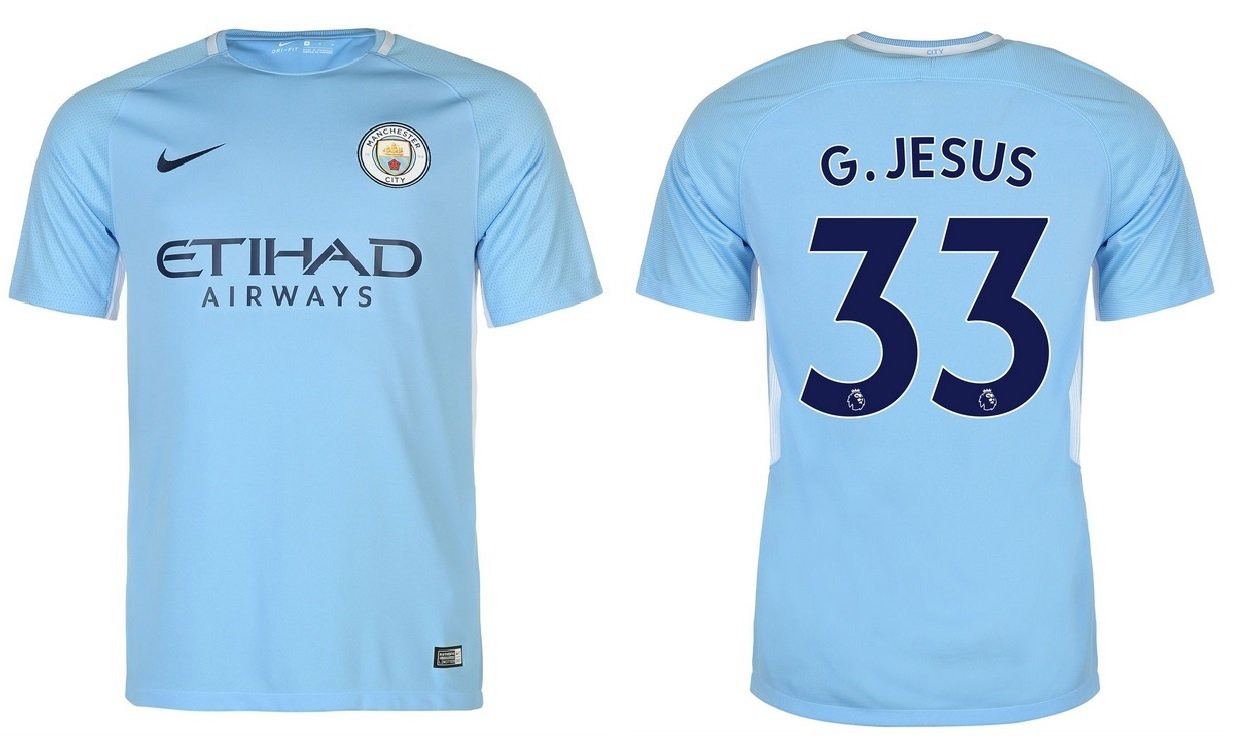 Trikot Kinder Manchester City 2017-2018 Home - G.Jesus