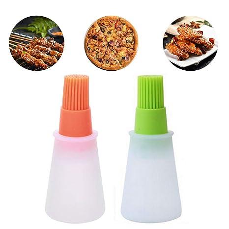 NANHAI Dispensador de Aceite Botella, Grado alimenticio, Silicona, Cocina, Cepillo, multifunción