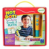 Educational Insights Hot Dots Let's Master Grade 2 Math Set with Talking Pen