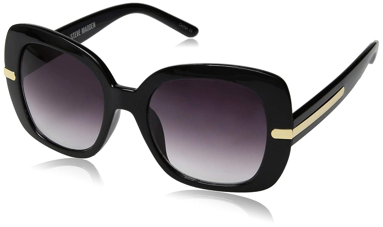 95273ef5500 Amazon.com  Steve Madden Women s Sm883150 Square Sunglasses Black 53 mm   Clothing