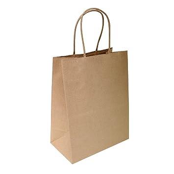 Amazon.com: Bolsas de papel color café para ...