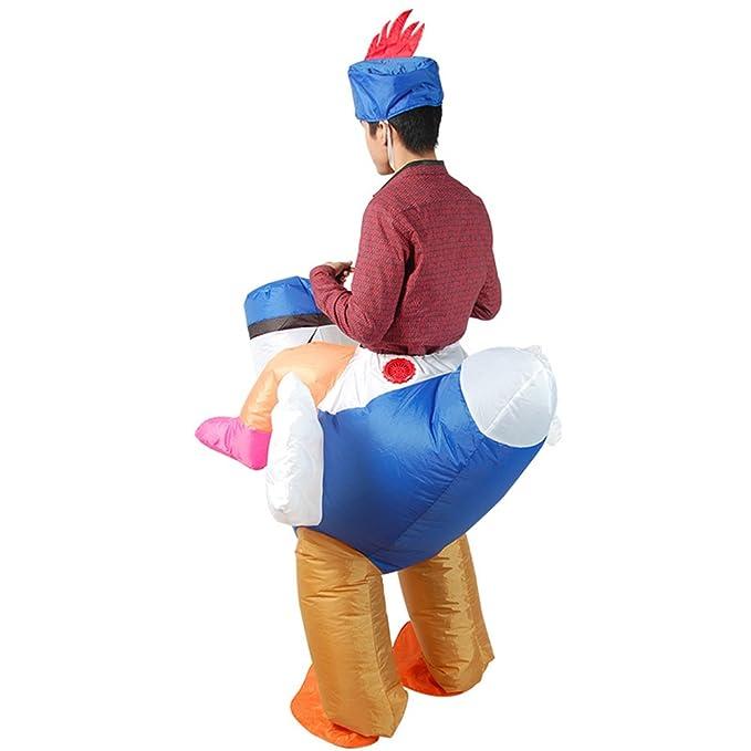Amazon.com: SHUISHOU - Disfraz de pollo hinchable para ...