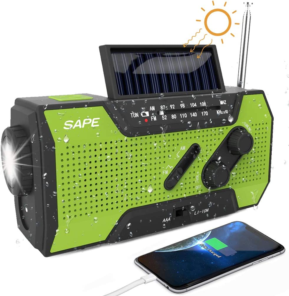 Portable with Solar Panel Solar Power Radio Boombox with Subwoofer GLD