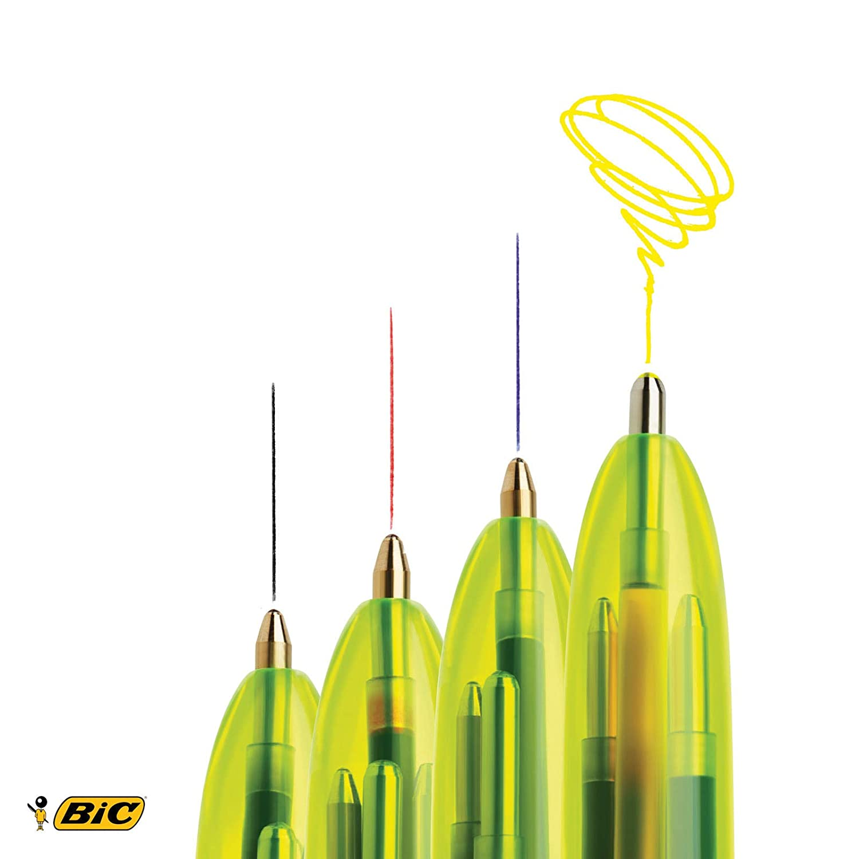 de BIC Pack de 6/bol/ígrafos de bola de 4 colores Decore Mixte