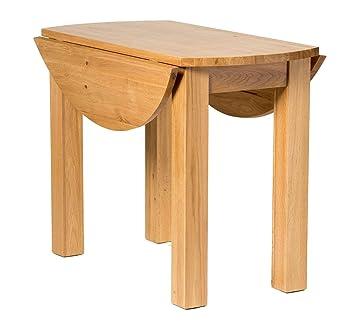 Fabulous Hallowood Waverly Drop Leaf Dining Table In Light Oak Finish Solid Wooden Round Folding Dinner Unit Wav Tab1000 Download Free Architecture Designs Pendunizatbritishbridgeorg