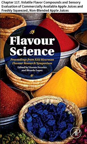Flavour Science: Chapter 117. Volatile Flavor Compounds and Sensory Evaluation of Commercially Available Apple Juices and Freshly Squeezed, Non-Blended Apple Juices