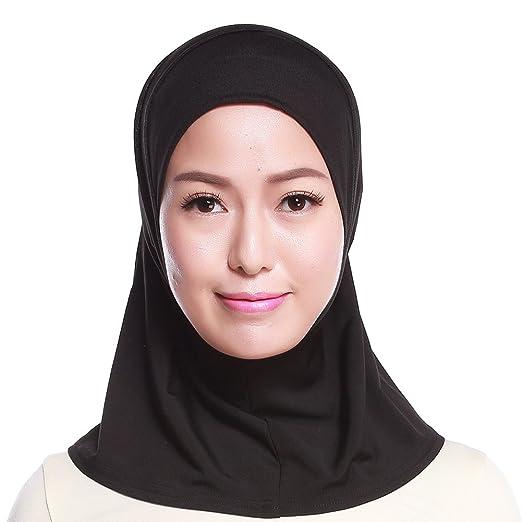 Islamic Muslim Women s Hijab Scarf Solid Color Arab Neck Cover Wrap ... 12c91b4efb3