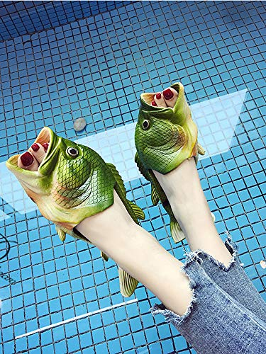 Slippers Women Slip and Beach Casual Fish Slippers Creative Men Fish CANPPNY Shoes Non Green Shoe Sandals 1qCp75