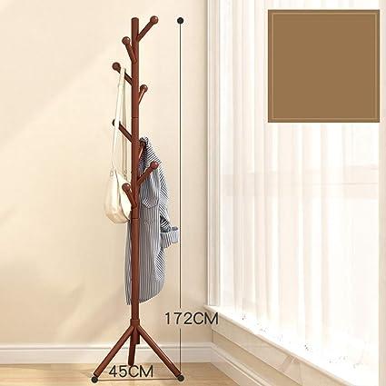 Perchero de pie Piso de madera maciza perchero dormitorio ...