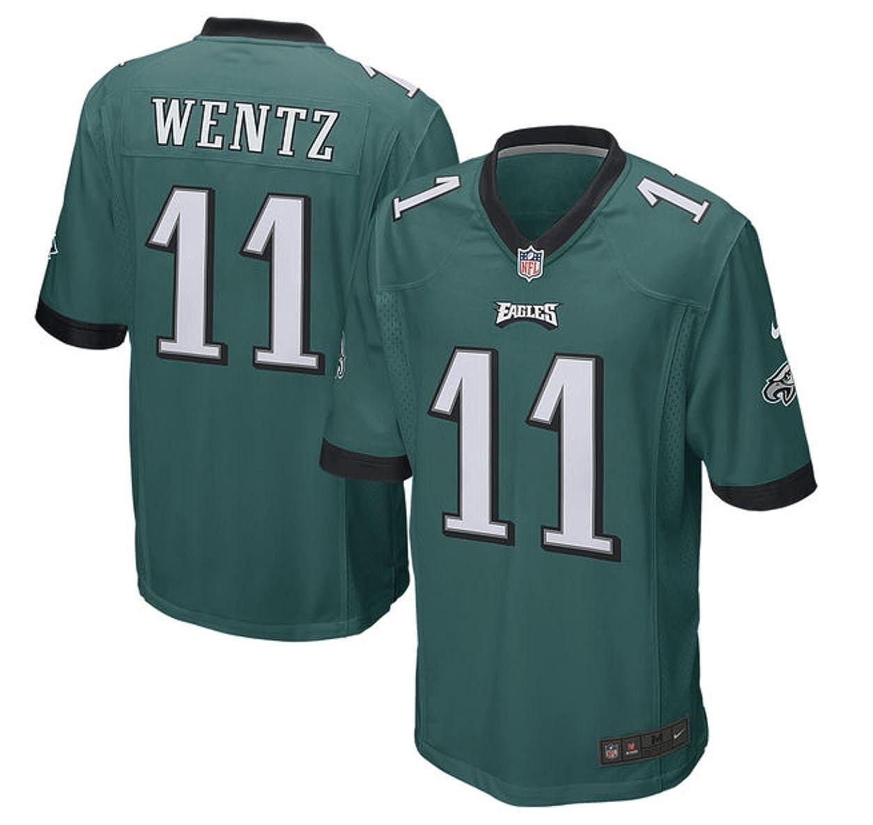 1a747289587 Amazon.com: Carson Wentz Philadelphia Eagles Youth Nike Green Game Jersey ( Youth Sizes): Sports & Outdoors