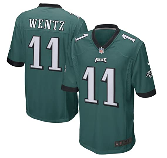 sports shoes d9ce6 90862 Carson Wentz Philadelphia Eagles Youth Nike Green Game Jersey (Youth Sizes)