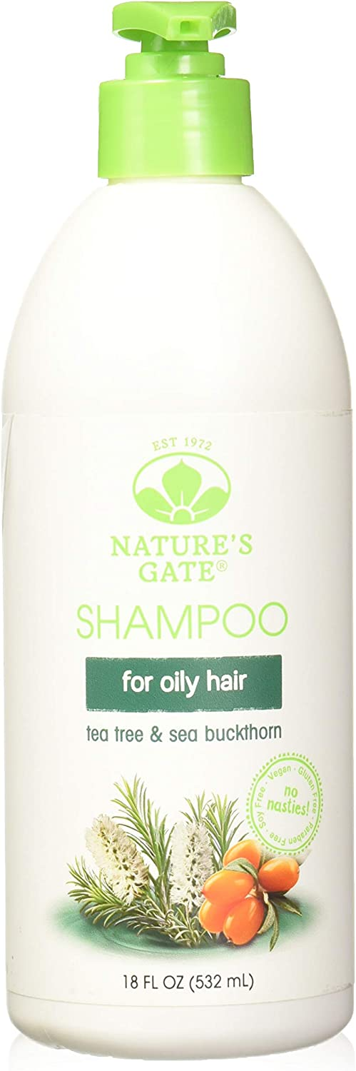 Nature's Gate Tea Tree + Sea Buckthorn Calming Shampoo 18 oz