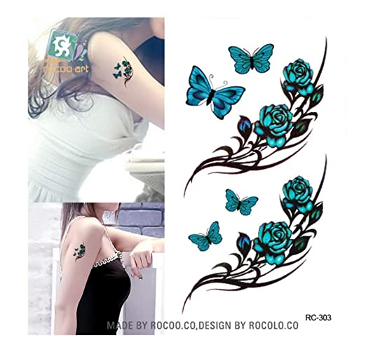 HYTGF Tatuaje Temporal Etiqueta engomada Papel de Tatuajes ...