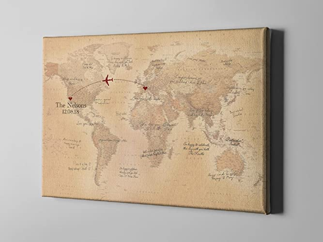 Amazon sale 50 off canvas guest book countries map plotting sale 50 off canvas guest book countries map plotting guestbook rustic world map gumiabroncs