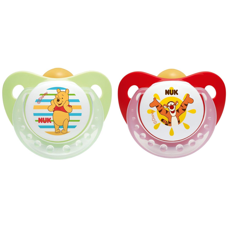 NUK 2 chupetes de caucho Winnie the Pooh Mis.1 (0 - 6 meses ...