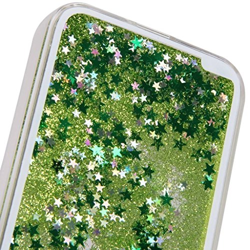 Vandot Funda Dura Bumper Case Cover Carcasa para Samsung Galaxy J5 2015 J500 (NO para Galaxy J5 2016 J510) 3D bling Funda Carcasa Duro Tapa Case Cover teléfono móvil caja protectora dura Colorido Chic Verde