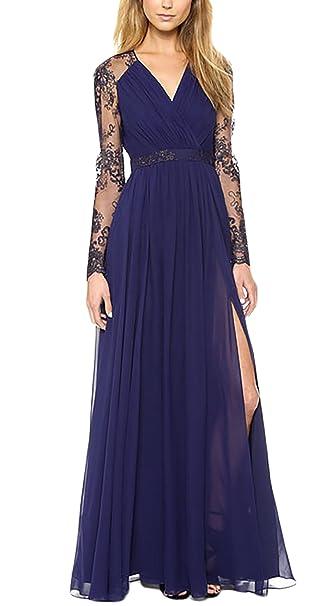 Vestidos de fiesta de encaje azul