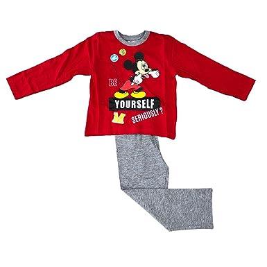 Mickey Mouse - Pijama Dos Piezas - para Niño: Amazon.es: Ropa y accesorios