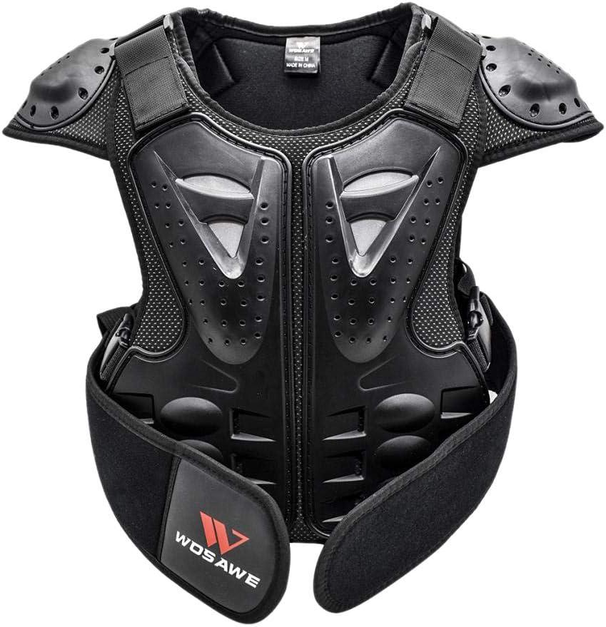 Toygogo Moto Armure Gilet de Protection Pare Pierre Moto Cyclisme Patinage Snowboarding Plastron avec Protection de la Poitrine et Dos