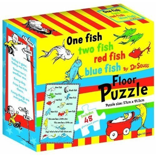 Dr. Seuss One Fish Two Fish Red Fish Blue Fish Floor Puzzle