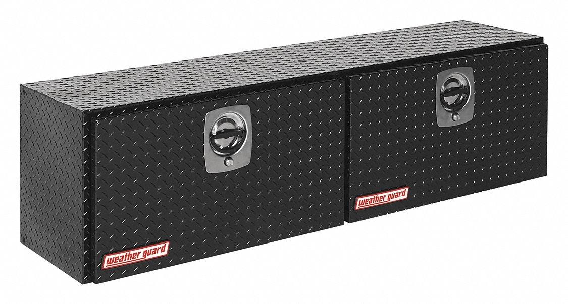 Aluminum Topside Truck Box, Black, Double, 10.8 cu. ft.
