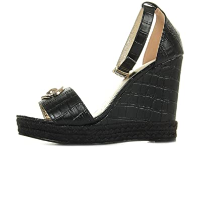 1d4be6241f56 Versace Jeans Linea High Rope Wedge Dis4 E0VRBS337012089970077, Sandals -  35 EU