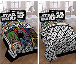 Star Wars Classic Kids 5 Piece Bed in a Bag Full Bedding Set - Reversible Comforter, Sheets & Pillow Cases by Disney