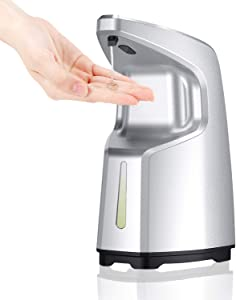 ibowee Touchless Hand Sanitizer Dispenser,15.2oz/450ml Automatic Soap Dispenser,Hand-Free Countertop/Wall Mounted for Office,Hospital,Station,Kitchen,Bathroom