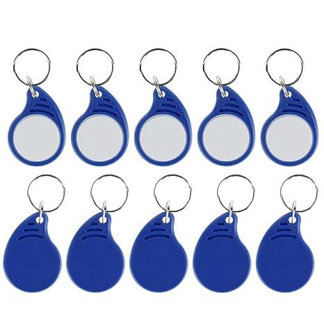 HFeng RFID 13.56MHz Keyfobs ISO14443A Mifare Classic 1k Etiquetas clave IC Llaveros Etiqueta de token de proximidad NFC para sistema de control de ...