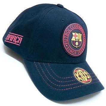 Gorra F.C. Barcelona Rubber marino junior primer equipo [AB3463]: Amazon.es: Deportes y aire libre