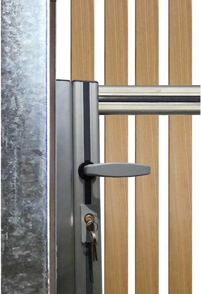 Candado/picaporte para Bauer puerta peatonal maqueta y Bauer maqueta puerta abatible 1flg. Con alerce Torbelag: Amazon.es: Bricolaje y herramientas