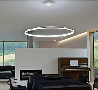 Modernes Design pendelleuchte modernes design wohn led ring amazon de beleuchtung
