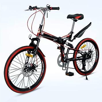 Grimk Bicicleta De Montaña Plegable Hombre,Mountain Bike Btt,Bici Unisex Adultos Ligera,Cuadro De Aluminio,7 Velocidades,Rueda De 22 Pulgadas,sillin Confort ...