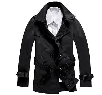 ab50f05a1cc3 メンズ 紳士 男性 ビジネス 秋冬 ダブル ボタン 長袖 スリム ロング コート 防寒 ウール製アウター ジャケット