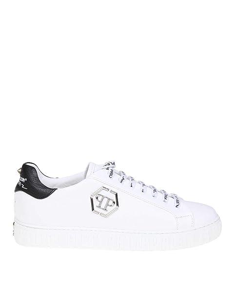 aspetto elegante dettagli per scarpe di separazione PHILIPP PLEIN Sneakers Uomo Msc2008ple006n01 Pelle Bianco ...