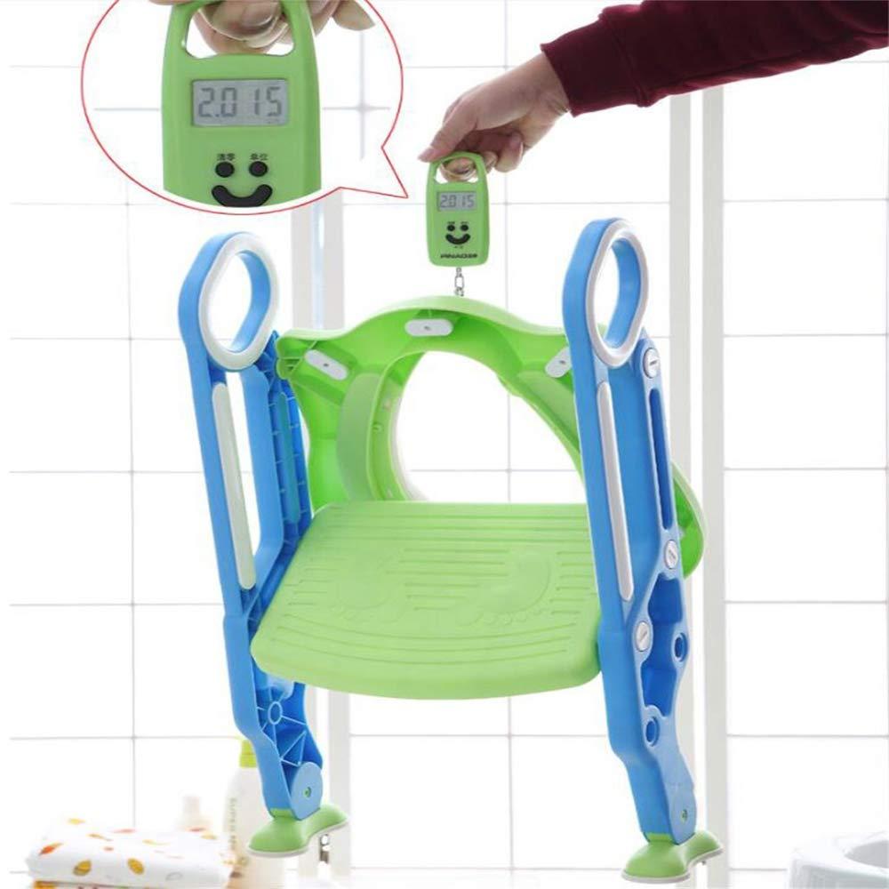 Sinbide Toiletten-Trainer Kinder|Kinder Toilettensitz Trainer|T/öpfchen WC-Sitz f/ür Kinder von 1-7 Jahren Gr/ün