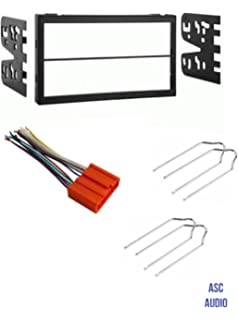 asc car stereo dash install kit, wire harness, and radio tool for  installing a