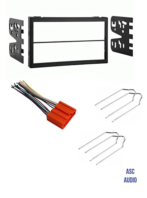 Amazon.com: ASC Car Stereo Dash Install Kit, Wire Harness, and Radio on double din gauges, double din trim, double din housing, double din dimensions, double din computer, double din screws,