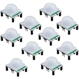 Qunqi 10pack HC-SR501 Pyroelectric Infrared PIR Motion Sensor Modules For Microcontrollers