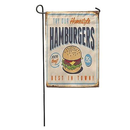 Amazon Com Semtomn Garden Flag Vintage Metal Sign Try Our