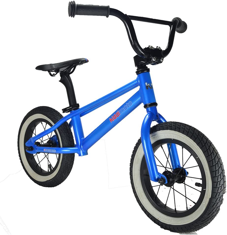 KIDDIMOTO BMX bicicletta Metal Black,Blue Child Unisex - Bicicleta (BMX, Metal, Black,Blue, 30.5 cm (12
